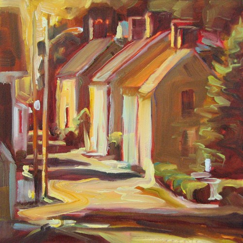 """Lamp Post"" original fine art by Karen Bruson"