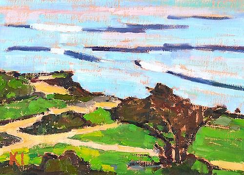 """Ocean Beach, San Diego"" original fine art by Kevin Inman"