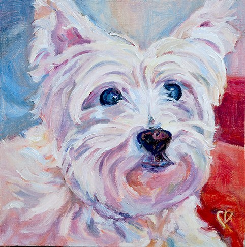 """Reggie"" original fine art by Carol DeMumbrum"