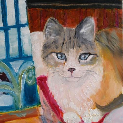 """Painting Assistant"" original fine art by Lou Belcher"