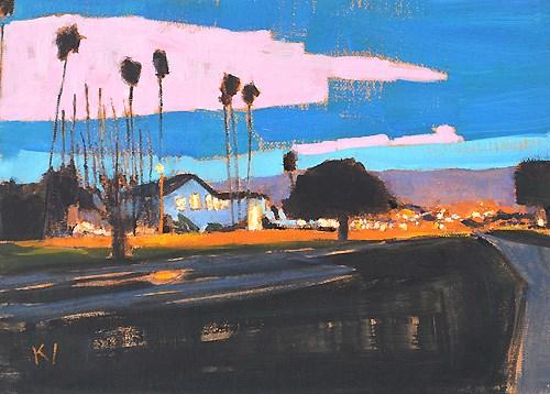 """Santa Barbara Nocturne"" original fine art by Kevin Inman"