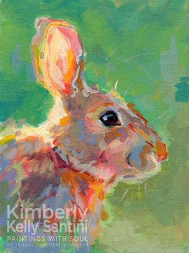 """Jack"" original fine art by Kimberly Santini"