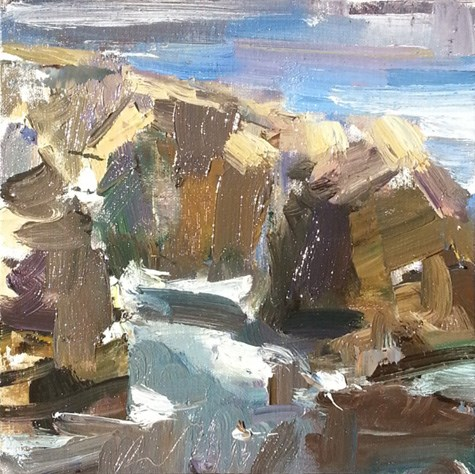 """Painting in California 14 At Rocky Point (sold)"" original fine art by Roos Schuring"