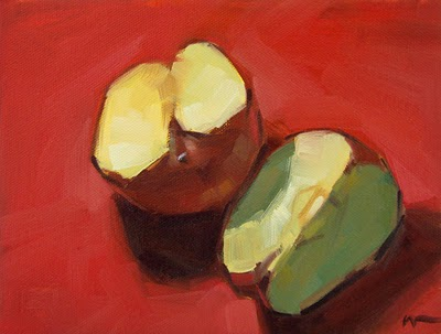 """No Apple --- SOLD"" original fine art by Carol Marine"