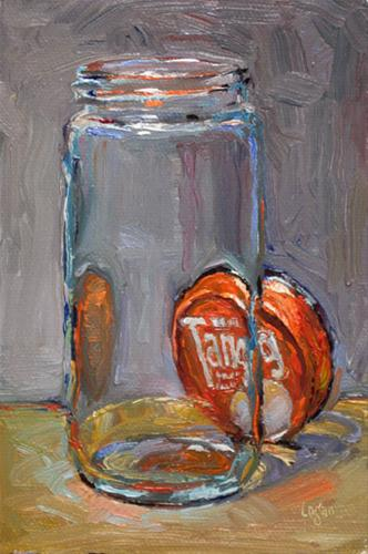 """Empty Tang Jar"" original fine art by Raymond Logan"