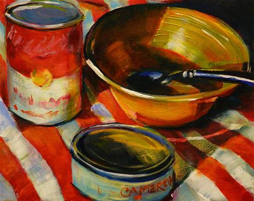 """TUNA AND TOMATO SOUP"" original fine art by Brian Cameron"