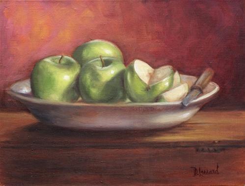 """Green Slice #702"" original fine art by Dee Lessard"