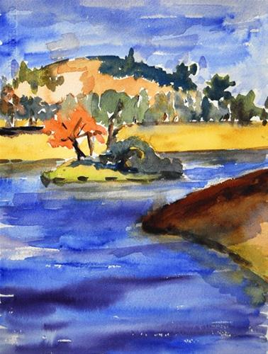 """Little Island"" original fine art by Donna Crosby"