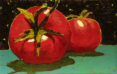 """""""Tomatoes in the Moonlight"""" original fine art by Mary McInnis"""