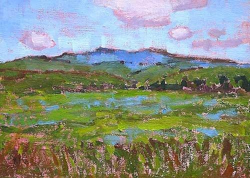 """Mountains Near Boise"" original fine art by Kevin Inman"
