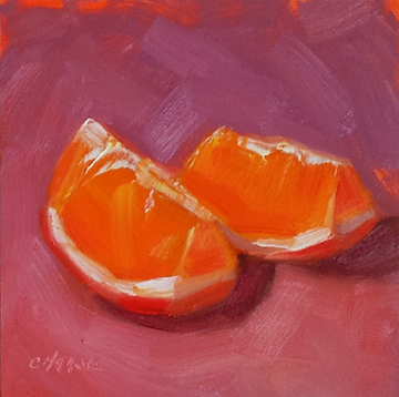 """Orange Slices"" original fine art by Cindy Haase"