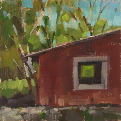 """See Thru Barn"" original fine art by Carol Marine"