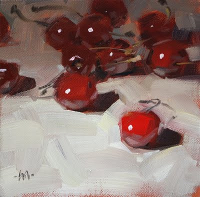 """Cherry Crowd"" original fine art by Carol Marine"