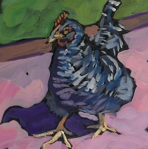 """""""Hen Strut"""" original fine art by Kat Corrigan"""
