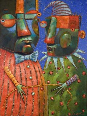 """Tug Of War"" original fine art by Brenda York"