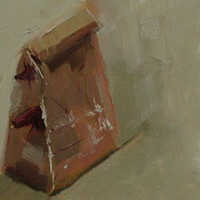 """PAPER BAG"" original fine art by Linda Popple"