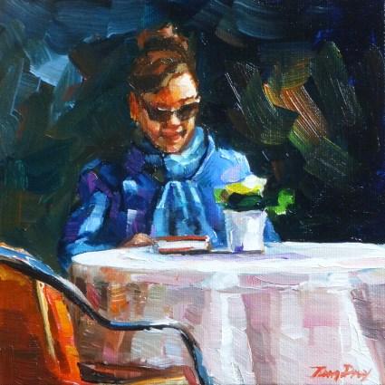"""""""when you read"""" original fine art by Jurij Frey"""