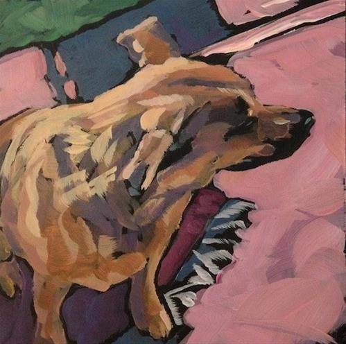 """Squinting"" original fine art by Kat Corrigan"