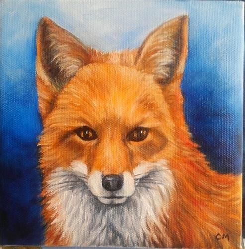 """Fox Portrait"" original fine art by Camille Morgan"