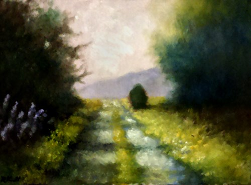 """The Road Over the Hill"" original fine art by Bob Kimball"
