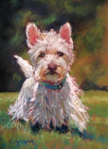 """Darby"" original fine art by Cindy Gillett"