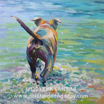 """Gone Fishing"" original fine art by Kimberly Santini"