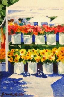 """The Art Market"" original fine art by JoAnne Perez Robinson"