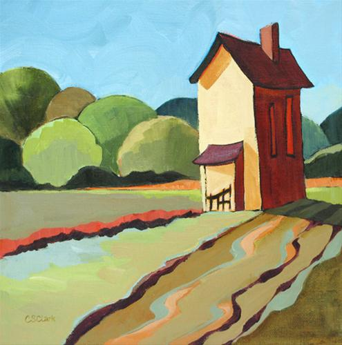 The Farmhouse original fine art by Carolee Clark