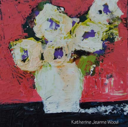 """Flower Series No 47"" original fine art by Katie Jeanne Wood"