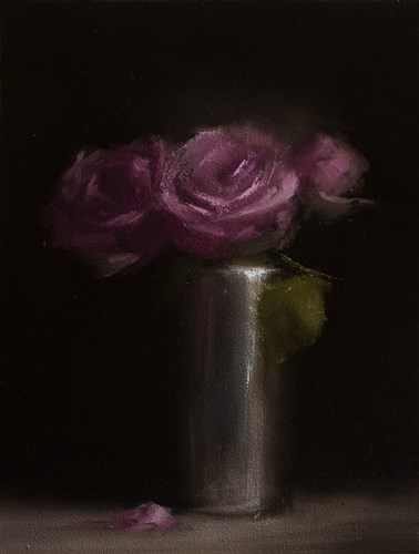 """Three Roses"" original fine art by Neil Carroll"