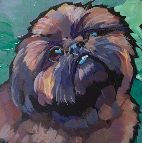 """Teddy, July 8"" original fine art by Kat Corrigan"