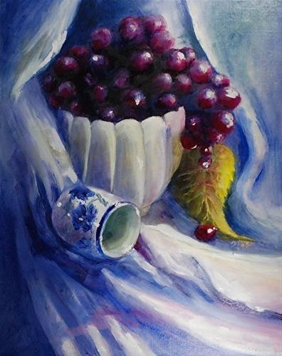 """Poured Out, 11 x 14 Oil, Still Life"" original fine art by Donna Pierce-Clark"