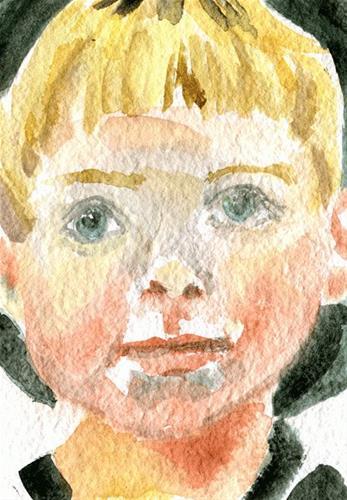 """Miles Watercolor"" original fine art by Donna Crosby"