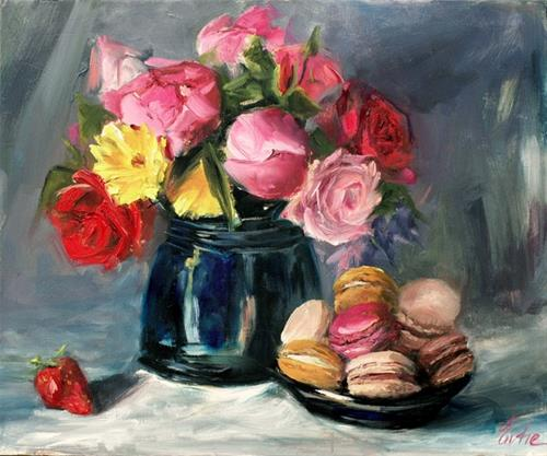 """Bouquet gourmand"" original fine art by Evelyne Heimburger Evhe"
