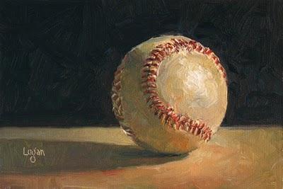 """The Obligatory Baseball"" original fine art by Raymond Logan"