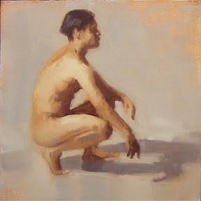 """""""NUDE STUDY #6"""" original fine art by Helen Cooper"""