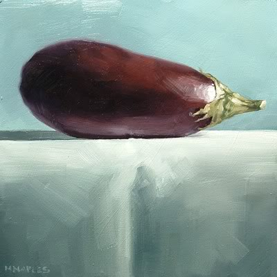"""Eggplant"" original fine art by Michael Naples"