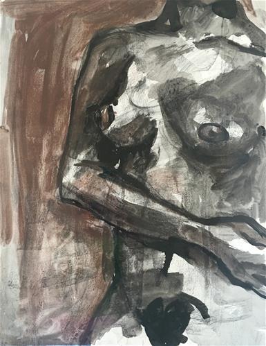 """Her Torso"" original fine art by Nava Judith"