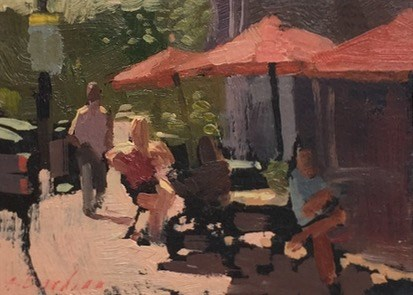 """No. 15, outside the ice cream shop"" original fine art by Aimee Erickson"