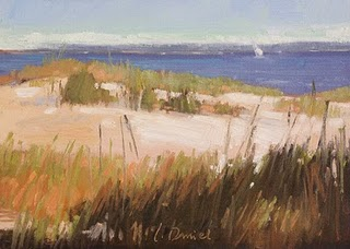 """Dune Grasses"" original fine art by Laurel Daniel"