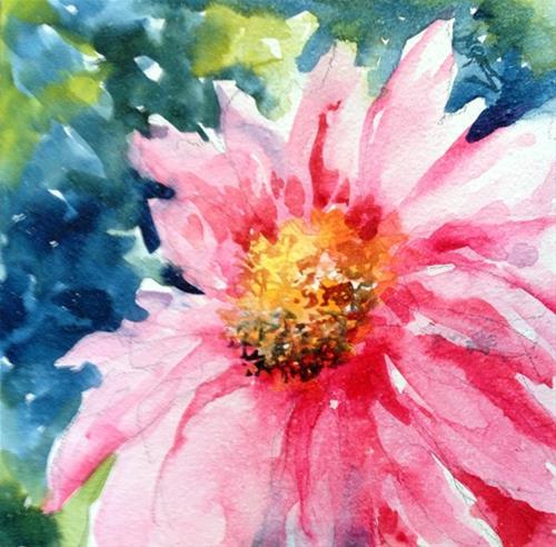 """Pink Daisy"" original fine art by Sue Dion"