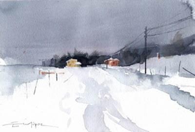 """""""snowy 5"""" original fine art by Emilio López"""