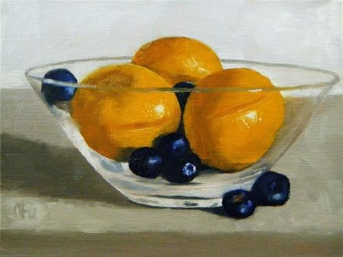 """Blueberries and Clementines"" original fine art by Gary Westlake"