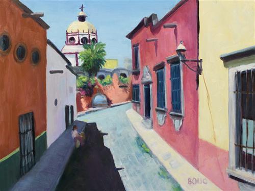 """San Miguel de Allende"" original fine art by Jana Bouc"