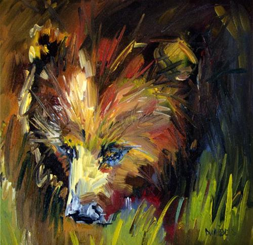 """Berry Hunter Bear Oil Painting by Diane Whitehead"" original fine art by Diane Whitehead"