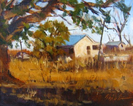 """Farm in August"" original fine art by Connie Snipes"