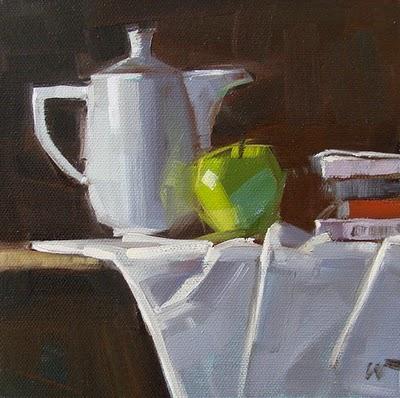 """High Tea"" original fine art by Carol Marine"