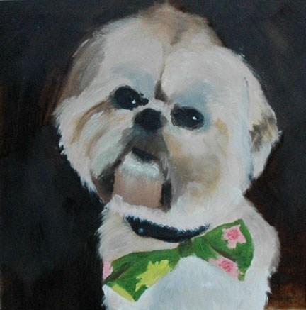 """RILEY 3"" original fine art by Linda Popple"