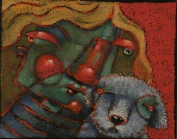 """Pup E Love"" original fine art by Brenda York"