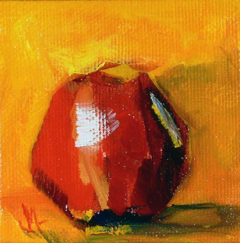"""UpSideDown Apple"" original fine art by - JanettMarie"